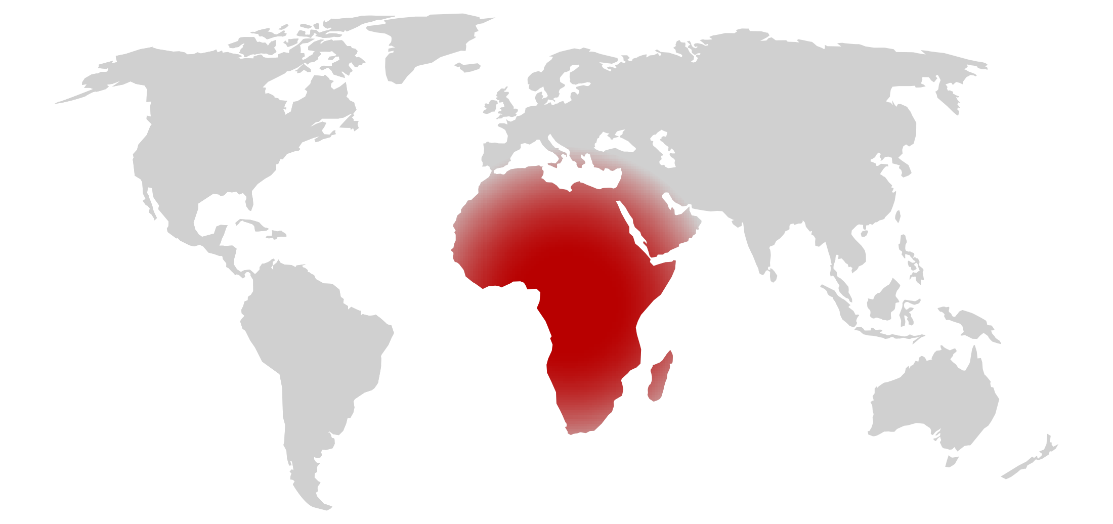 Map showing the area of Africa