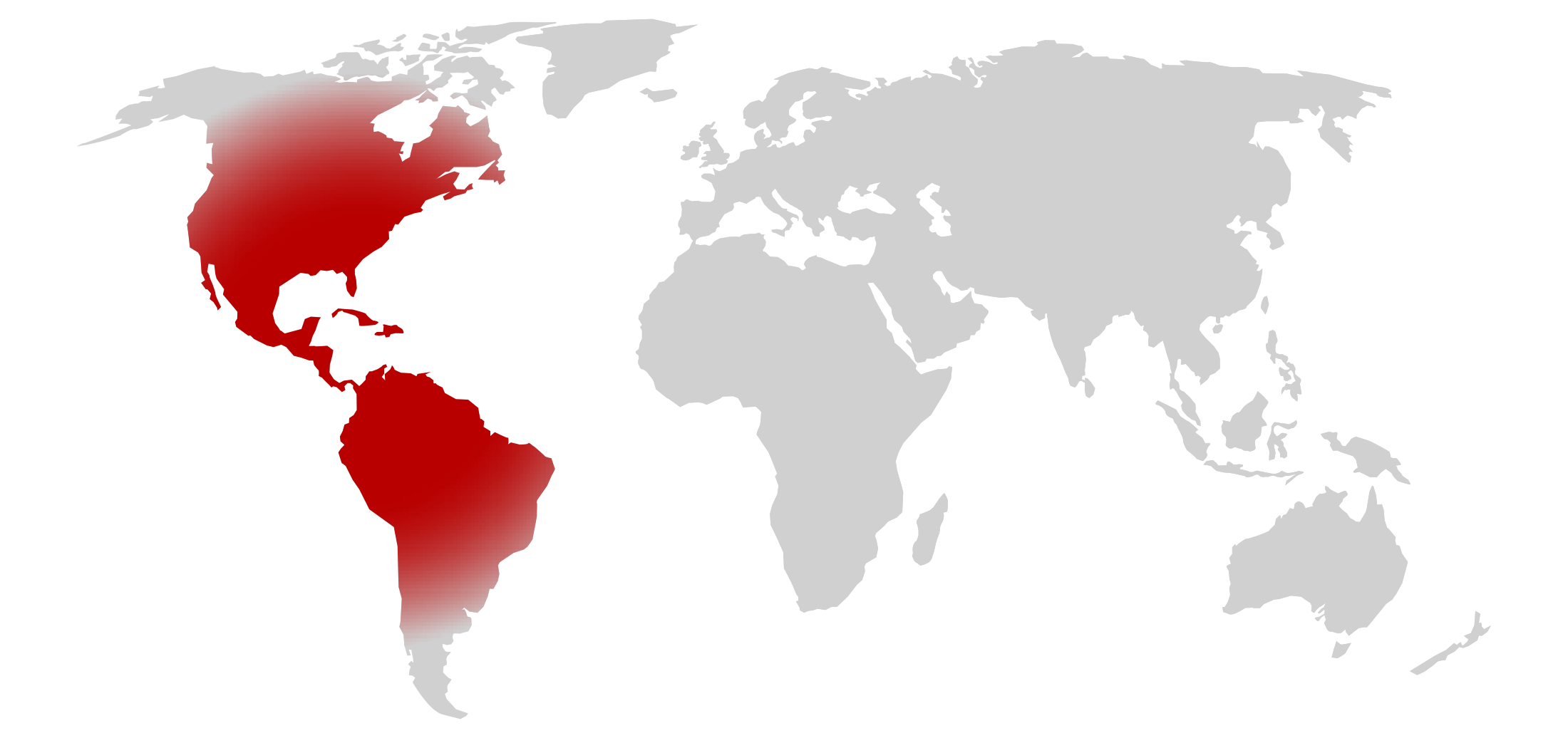 Map showing the area of Americas
