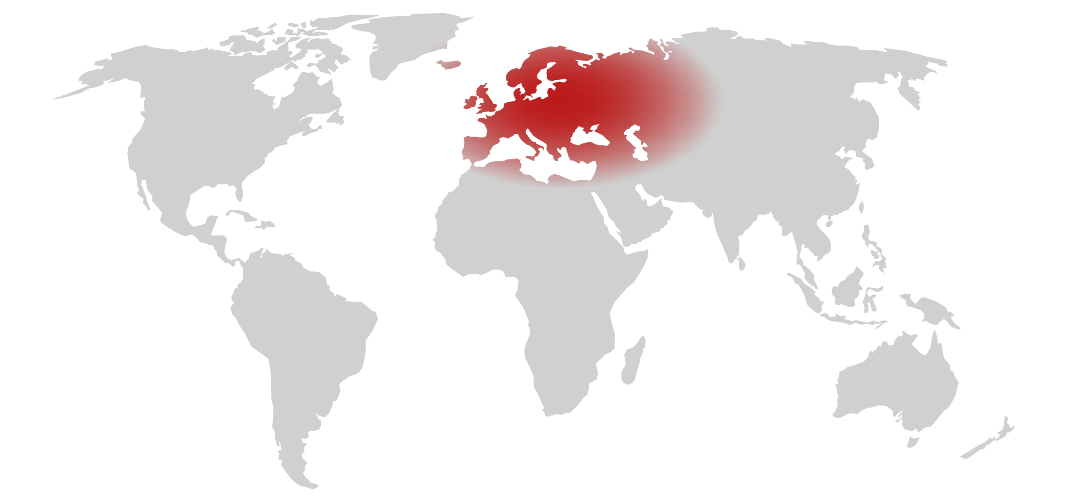 Map showing the area of Europe