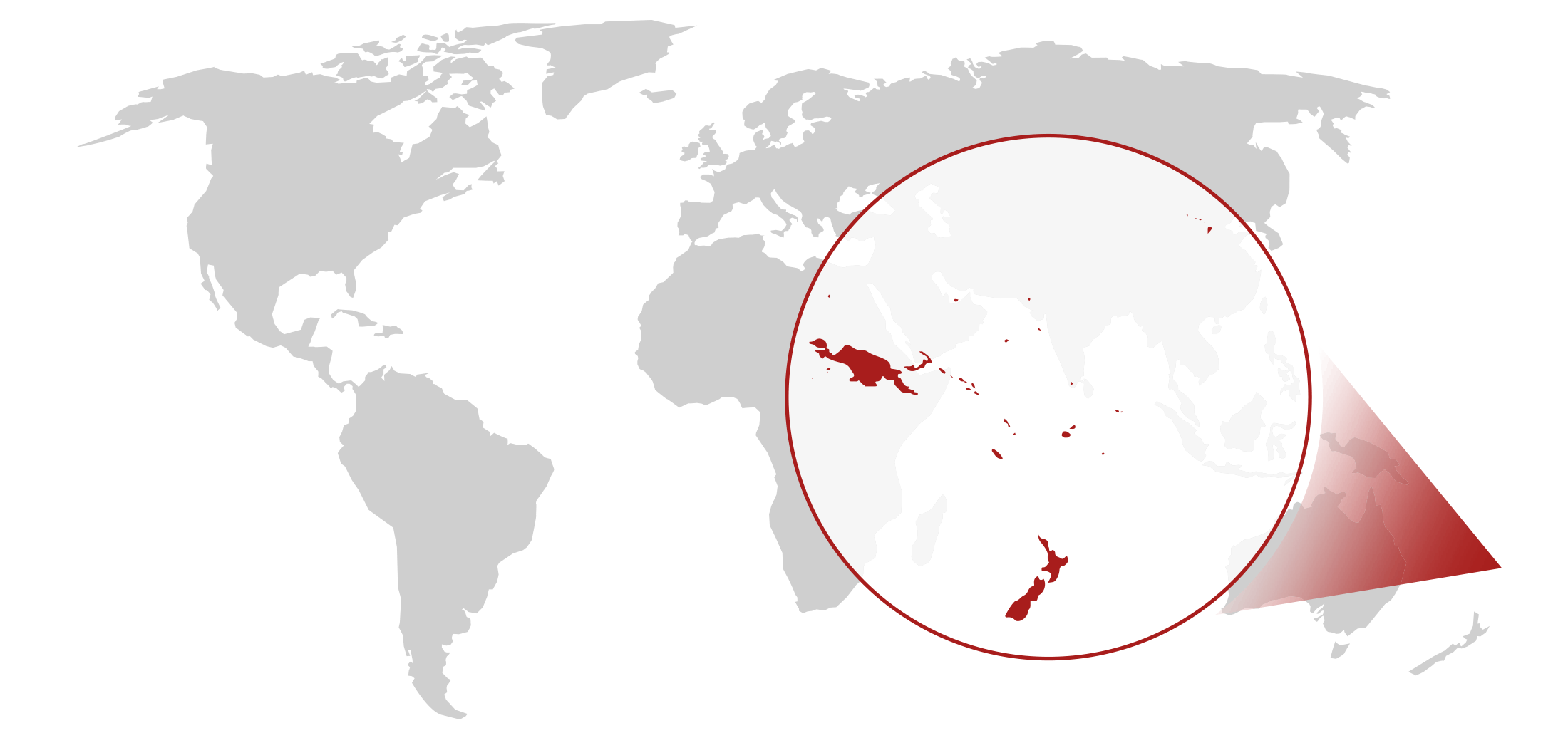 Map showing the area of Pacific Islands